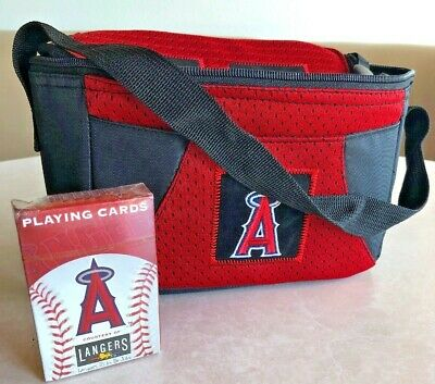 Los Angeles Angels of Anaheim Cooler Bag w Strap  & deco of playing cards NEW