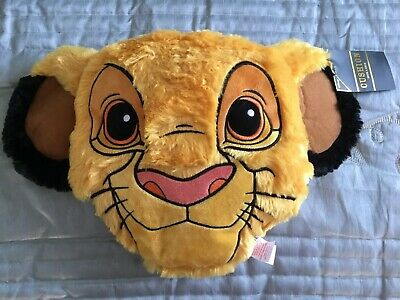 PRIMARK DISNEY THE LION KING SIMBA FLUFFY CHARACTER SHAPED CUSHION - 36cm x 46cm