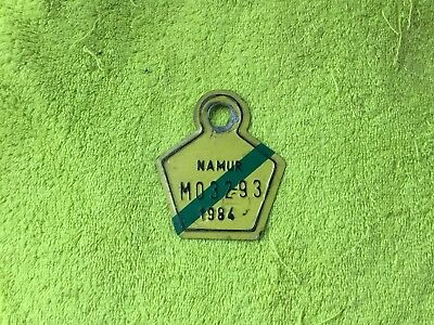 Plaque  Mobylette Namur 1984 Bromfiest Plaat