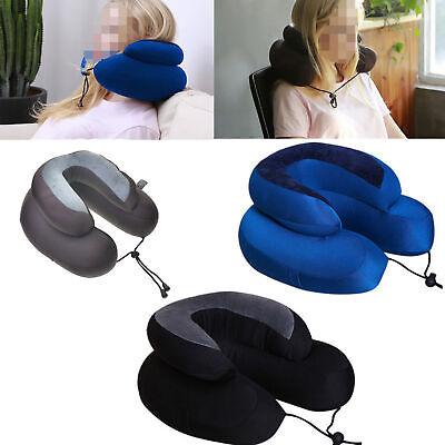 DoubleLayer U-Shape Pillow Memory Foam Neck Headrest Travel Soft Nursing Cushion