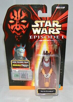 """New 1999 Hasbro Star Wars Episode 1 3.75"""" Nute Gunray Action Figure Sealed"""