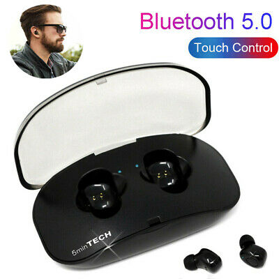 Wireless Earbuds Bluetooth V5.0 5D Headphones Sweatproof with Mic & Charging Box