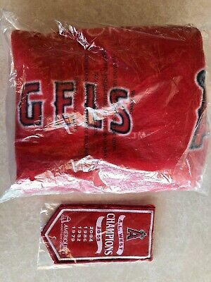 Los Angeles Angels of Anaheim fleece blanket  & Champions Banner NEW SGA