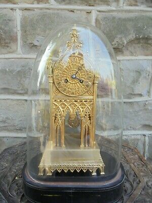 Antique Ormolu Cathedral Clock J C Cailly