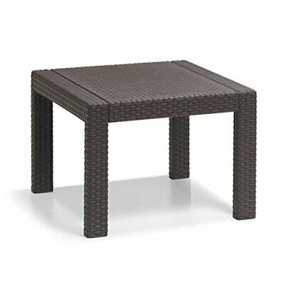 TABLE BASSE DE salon de jardin resine tressee marron ...