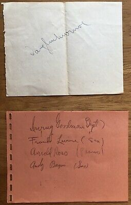 VAUGHAN MONROE AND 4 BAND MEMBERS Autograph Album Page