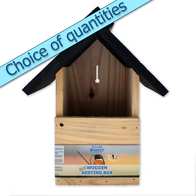 Open Fronted Delux Bird Nest Box - Nesting Box with Multi Buy Discounts