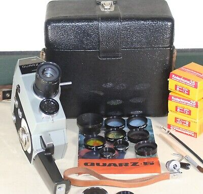 Zenit Quarz 5 Double Super 8 Cine Camera  Complete Kit Inc. Filter Lens Set