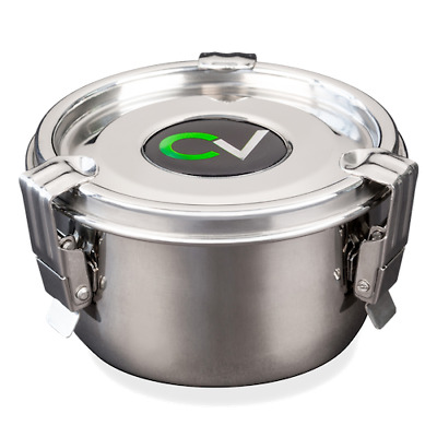 New CVault Storage Container Durable Stainless Steel **FREE SHIPPING**