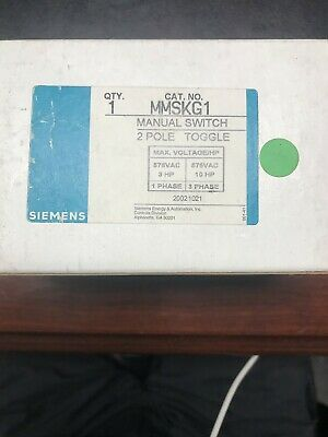 Siemens Mmskg1 Maual Switch 2 Pole Toggle