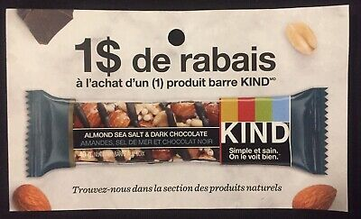 Lot of 20 x 1.00$ KIND  Products Coupons Canada