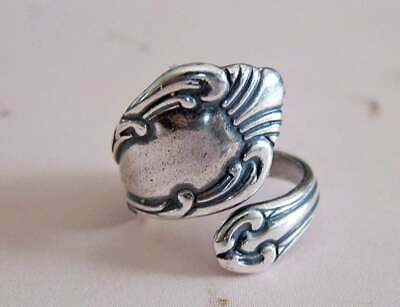 Antique Vintage Style Silver Plated Floral Spoon Ring Sizes 6-10 Adjustable
