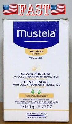 Mustela Gentle Soap With Cold Cream Nutri-Protective 5.29 oz (150 g) EXP 07/2021