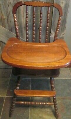 VTG Jenny Lind Wooden Highchair High Chair 1ST BIRTHDAY