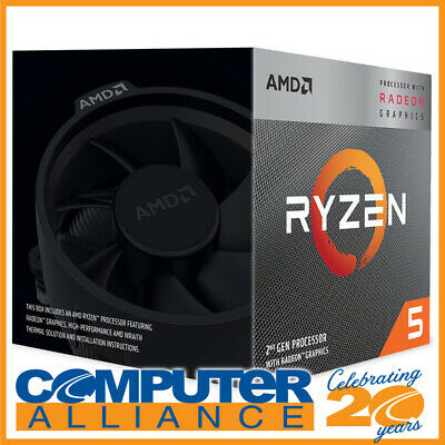 AMD AM4 Ryzen 5 3400G Quad Core 3.7GHz 65W CPU YD3400C5FHBOX with RX Vega 11 Gra