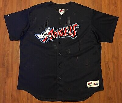 b4a08292 Vintage Authentic Majestic Anaheim Angels Disney Wings Mlb Jersey 2Xl Made  N Usa