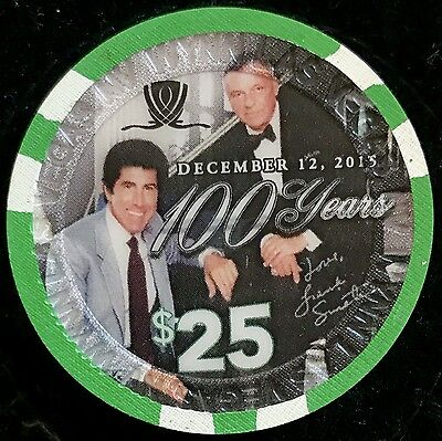 $25 Wynn Casino Chip - Frank Sinatra - Las Vegas, December 12 2015 -Uncirculated
