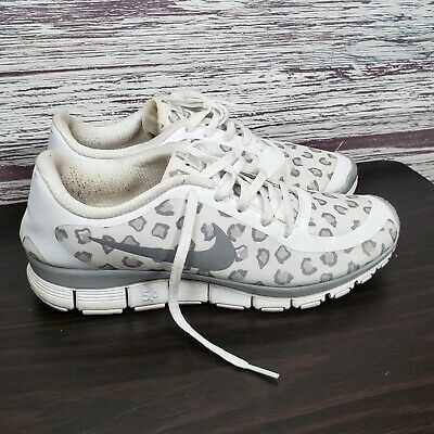 best website f9e7c af528 Womens NIKE FREE 5.0Sneakers Shoes Cheetah White  silver sz 10