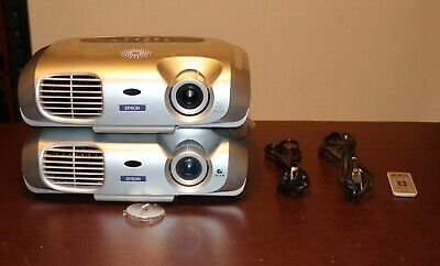 Epson PowerLite S1+ LCD Projector EMP-S1H With 1 Remote control -Lot of 2 Proj.