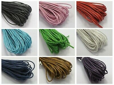 50 Meters Waxed Cotton Beading Cord 1.5mm Macrame Jewelry Making String Thread