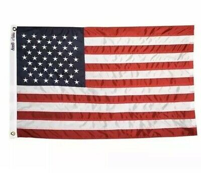 ANNIN FLAGMAKERS Nylon Replacement U.S. Flag, 3 x 5-Ft. ALL AMERICAN USA