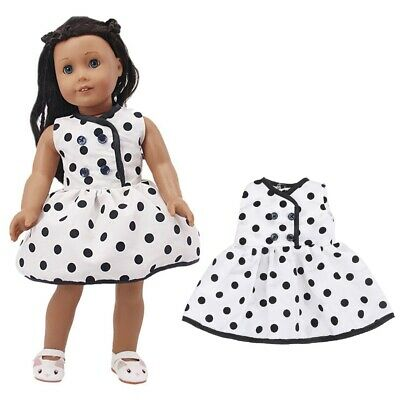 "18"" Inch Doll Girl Dress Polka Dot Cloth Dress American Doll Our Generation"