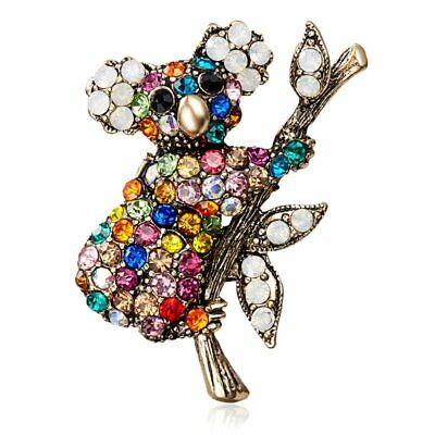Fashion Crystal Koala Brooch Pin Women Men Wedding Bridal Broach Party Jewelry