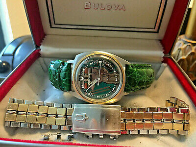 Vintage Beautifully Restored M4 Men's 214 Accutron Asymmetric Spaceview Watch +