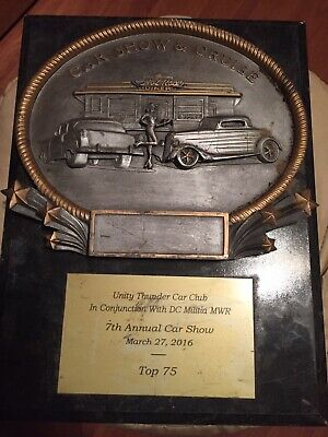 CAR SHOW And CRUISE HOTT RODS DINER 7th Annual Car Show Plaque