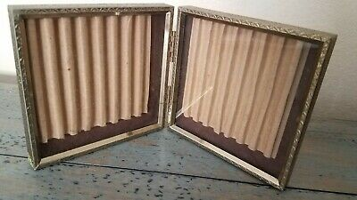 Vintage Gold Metal Double Hinged Folding Picture Frame