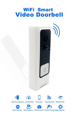 Wireless Smart WiFi DoorBell Video Visual Camera Intercom Home Security Ring zjd