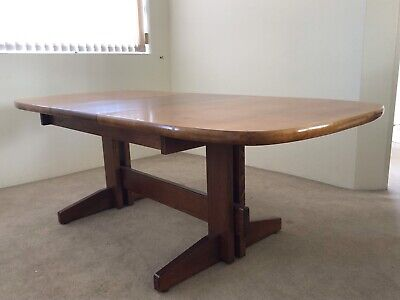 Retro Extension Solid Timber Dining Table Seats Up To 6 8people