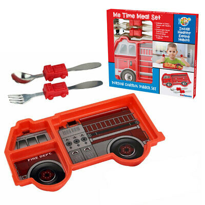 Kids Funwares Me Time Meal Set Spoon/Plate/Fork Baby/Kids 18m+ Fire Engine Red
