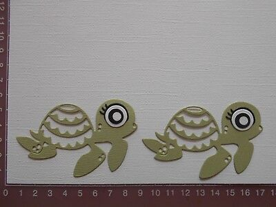 Die cuts - Turtles Sea Creatures  Embellishments Childrens Birthday Baby Lot 2