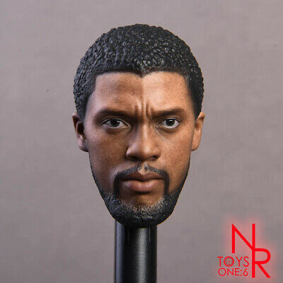 NRTOYS 1/6 Scale Black Panther 2.0 Head Sculpt Carved Solider Figure Toys Gifts