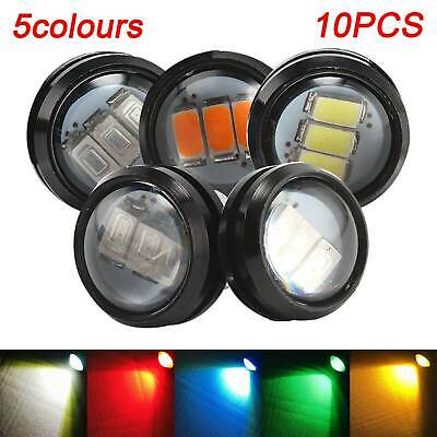 10X 12V Car Truck Lorry Trailer Round Led Bullet Button Rear Marker Light Lamps