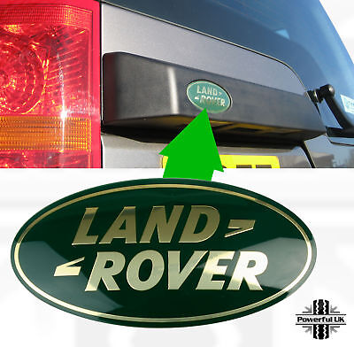 Genuine Land Rover Discovery 3 4 GREEN+GOLD rear tailgate oval badge grille door