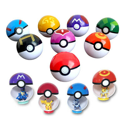 Pokemon Pokeball Pop-up 7cm Cartoon BALL + Figure Pikachu Monster Kids Toy Gift