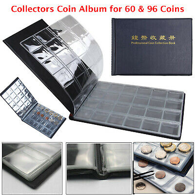 Collectors Coin Album for 60-96 Coins 50p Olympic Beatrix old 50p £2 £1 Book UK