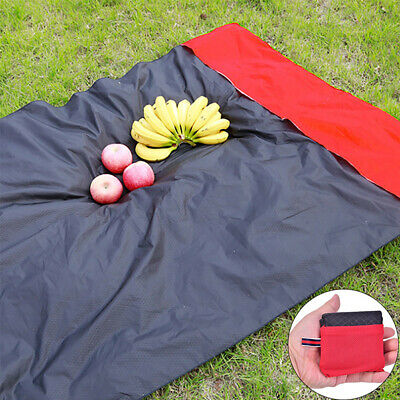 Picnic Hiking Blanket Portable Pocket Nylon Camping Mat Foldable Garden Mat ^S