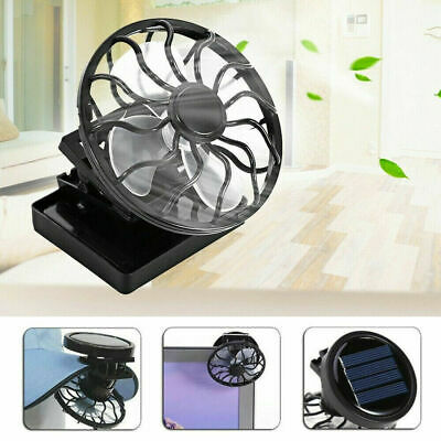 Mini Solar Power Panel Cooling Fan Clip-on Hat Fans Cell Cooler Portable Outdoor