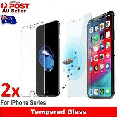 2X Tempered Glass Screen Protector Film Guard For Apple iPhone X 5 6S 7 8 PLUS