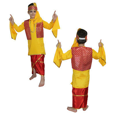 36553b715 Punjabi Boy Fancy Dress Indian State Traditional Wear Costume,School  functions
