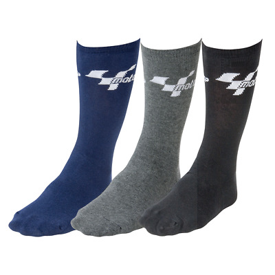 Bike It MotoGP Mens Everyday Motorcycle Socks Cotton Mix 3 Pairs Gift Idea