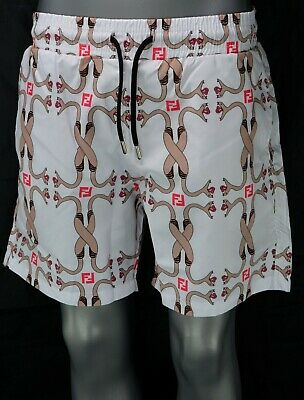 Bnwt Fedni White Swim Shorts  Beach Wear Swim  Summer '19 Men's  All Sizes