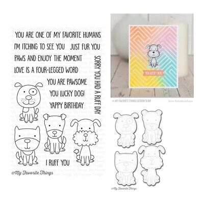 My Favorite Things Four-Legged Friends Clear Stamps & Cutting Die Set