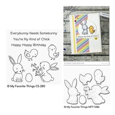 My Favorite Things Hoppy Friends Clear Stamps & Cutting Die Set