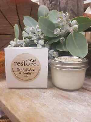 Restore Scented Candle Sandalwood & Amber