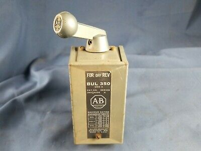 Vintage Allen Bradley Reversing Drum Switch