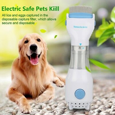 Electric Vacuum Head Filter Lice nit Brush Comb Pet Dog Cleaning Capture Tool US
